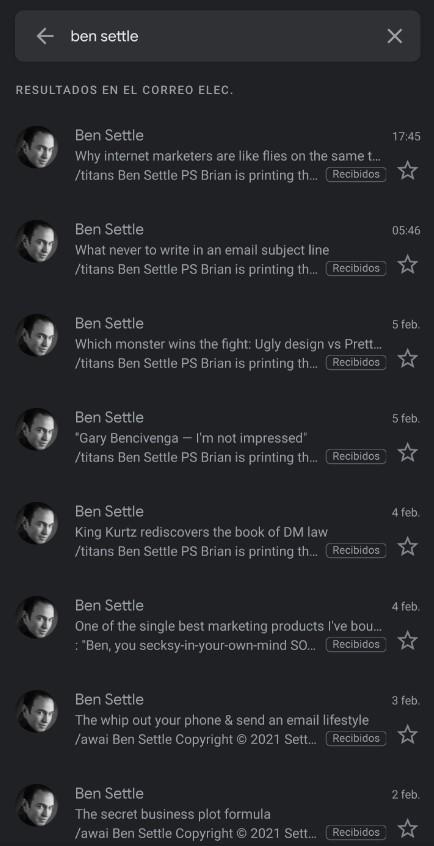 Email Marketing de Ben Settle